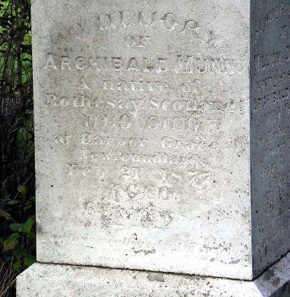 Archibald Munn headstone