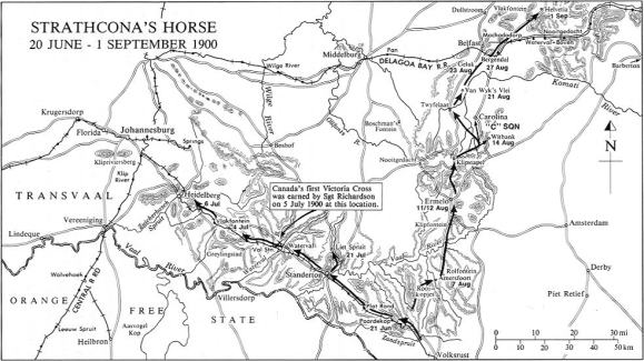 Movements of Strathcona's Horse, 20 June - 1 September 1900