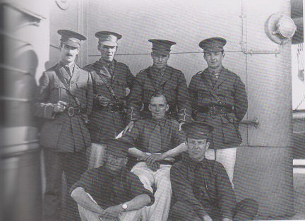 Dr. William H. Parsons (seated left) aboard Calgarian 20 Jun 1915
