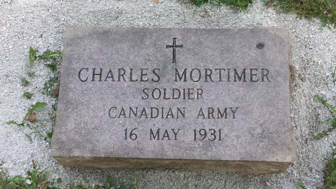 Grave Marker Prospect Cemetery, Toronto