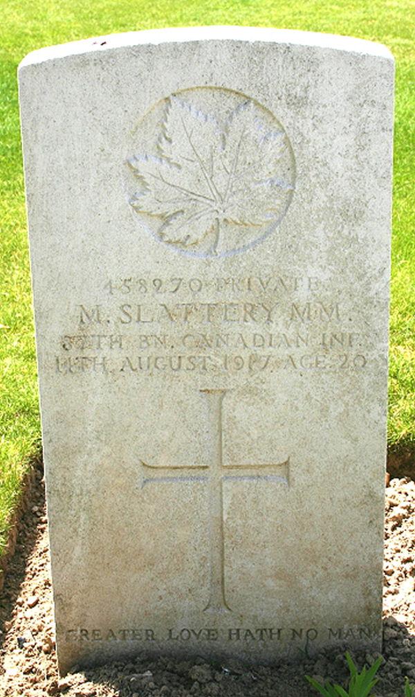Headstone in France
