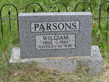 Parsons, William U.C. Cemetery Harbour Grace