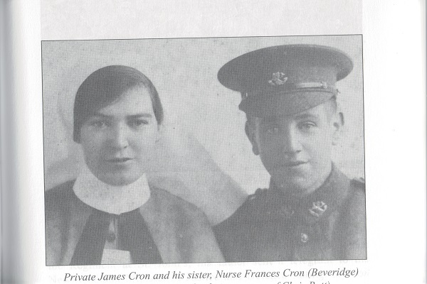 Pte. James Cron & sister Nurse Frances Cron