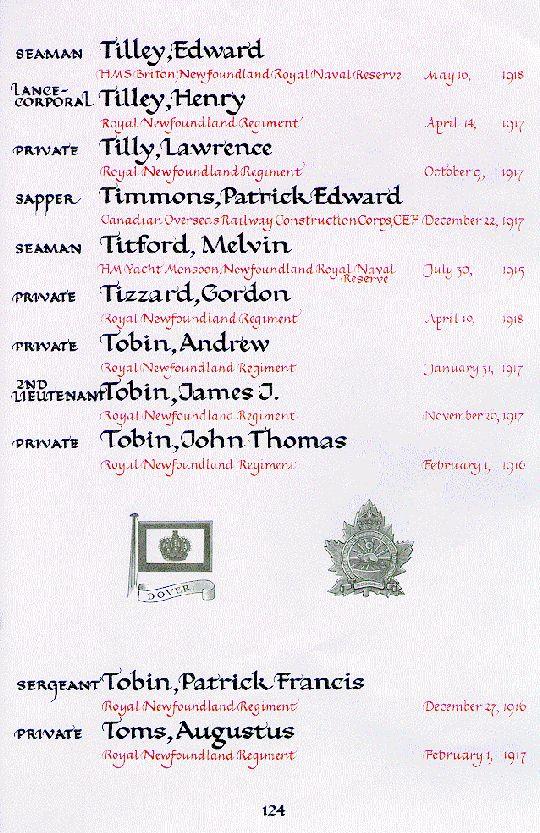 Book of Remembrance Ottawa
