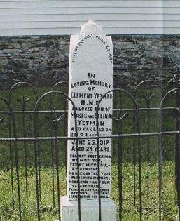 Clement Yetman Memorial St. Peter's Hr. Grace