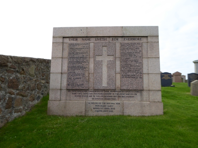 Memorial in Peterhead Cemetery