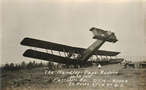 Handley Page Atlantic Downed in Nova Scotia